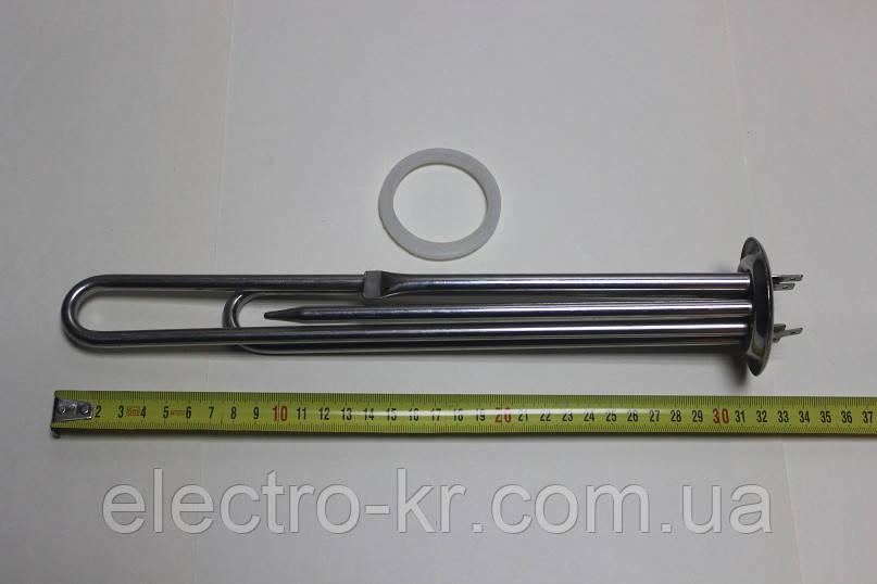 Тен для бойлера Термекс, Гарантерм, Аміна 2000 W з нержавійки, прямий з трубками під 2 терморегулятора КИТАЙ