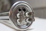Тен для бойлера Термекс, Гарантерм, Аміна 2000 W з нержавійки, прямий з трубками під 2 терморегулятора КИТАЙ, фото 2