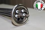 Тен для бойлера Термекс,Гарантерм,Аміна 2000 W з нержавійки, прямий з трубками під 2 терморегулятора ІТАЛІЯ, фото 2