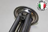 Тен для бойлера Термекс,Гарантерм,Аміна 2000 W з нержавійки, прямий з трубками під 2 терморегулятора ІТАЛІЯ, фото 4