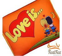 """Подушка для любимой """"Love is"""""""