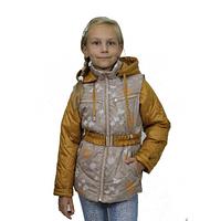 Куртка - жилет для девочки демисезонная Злата беж