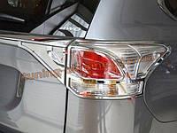 Хром задних фар Mitsubishi Outlander 2014+