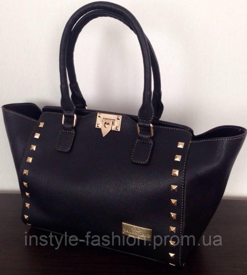 d5c0c0d6f0f6 Сумка женская Valentino Валентино черная - Сумки брендовые, кошельки, очки,  женская одежда InStyle