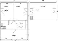 Будинок 6м х 6м з мансардою