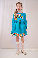Детское красивое, стильное трикотажное платье дешево от производителя.