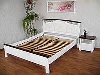 """Белая кровать """"Констанция"""" массив - сосна, ольха, дуб."""