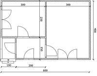 Дом 6м х 4м