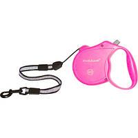 Collar Control S поводок-рулетка розовая для собак до 12кг, 5м