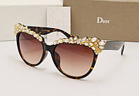 Женские солнцезащитные очки Dior 77125 коричневый цвет, фото 1