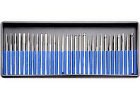 Набор насадок для фрезера с алмазным напылением (30 шт,серебро)