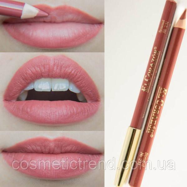 Карандаш контурный для губ деревянный № 231 Sensual El Corazon Perfect Lips