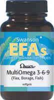 Мултьи Омега / MultiOmega 3-6-9 (лен, огуречник, рыба), 1200 мг 120 капсул, фото 1