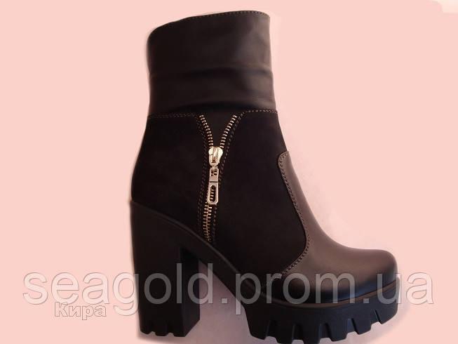 4dfc221b9cbd Кожаные женские ботинки\полусапог мод.