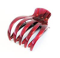 Заколка для волос крабик боковой пластик-12 шт.- 8,5 см. * 6,5 см.