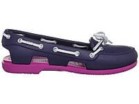 Женские пляжные Crocs (крокс, кроксы) темно-синие
