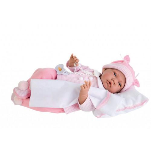 Кукла Juan Nacida Cojin розовая Antonio Juan 3345