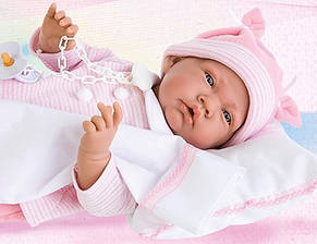 Кукла Juan Nacida Cojin розовая Antonio Juan 3345, фото 2