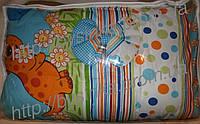 Постельный комплект для новорожденного. Балдахин -фатин +ткань, фото 1