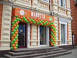Оформлення повітряними кулями фасадів будівель., фото 7