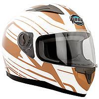 Шлем GEON 968 Интеграл Impulse white/gold