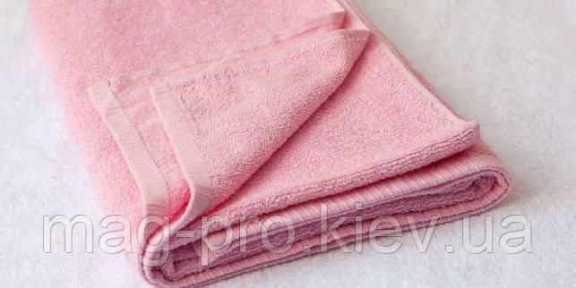 Розовое махровое полотенце Cholzer 70х140 плотность 420 Турция