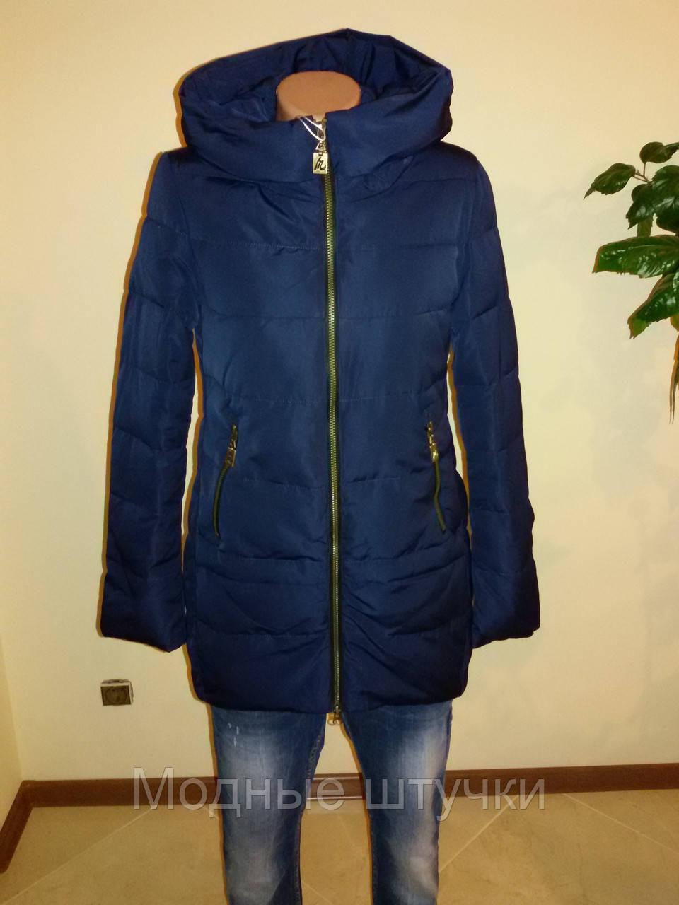 ef5f5b8935d Демисезонная женская куртка синяя Meajiateer 16-07
