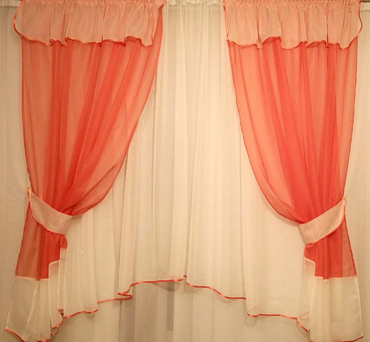 Комплект штор Марія Теракот, кухонні