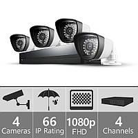 Комплект видеонаблюдения InterVision FullHD-4 1080p (4 камеры и регистратор )