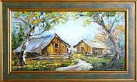 Картина «Сельский пейзаж. На околице» Картины маслом природа