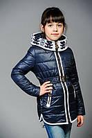 Куртка весна-осень для девочек, размеры 32,34,36,38, утеплитель — холофайбер (весна)
