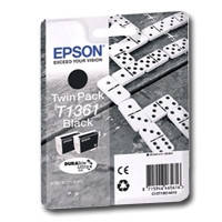 Картридж струйный Epson для K101/K201/K301 Black (C13T13614A10) двойная упаковка