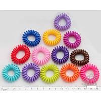 Резинки силиконовые спираль цветные матовые