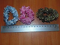 Резинки шелковые цветные в горошек