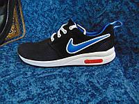 Мужские повседневные кроссовки Air Light черные с синим, фото 1