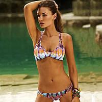 Яркий купальник Victoria's Secret. Красивый, стильный открытый купальник. Раздельный купальник. Код: КЕ486