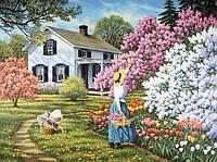 """Набор алмазной вышивки (мозаики) """"Родной дом. Весна."""" Художник Джон Френч Слоан"""