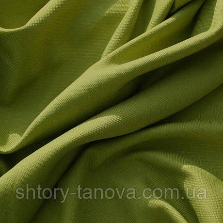 Рогожка ткань для пошива штор с легким блеском фисташка