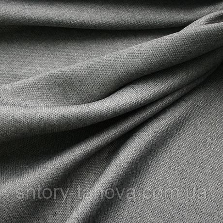 Декор рогожка брук сірий