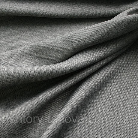Ткань для штор рогожка серый