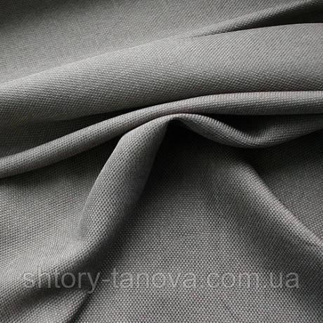 Декор рогожка брук сіро-блакитний.
