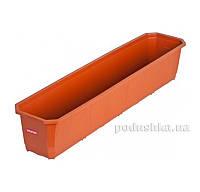 Балконный ящик для цветов 80 см Curver 04315  цвет - терракотовый
