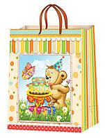 Детские подарочные пакеты размер 38 х 24 см (12 шт./уп.)