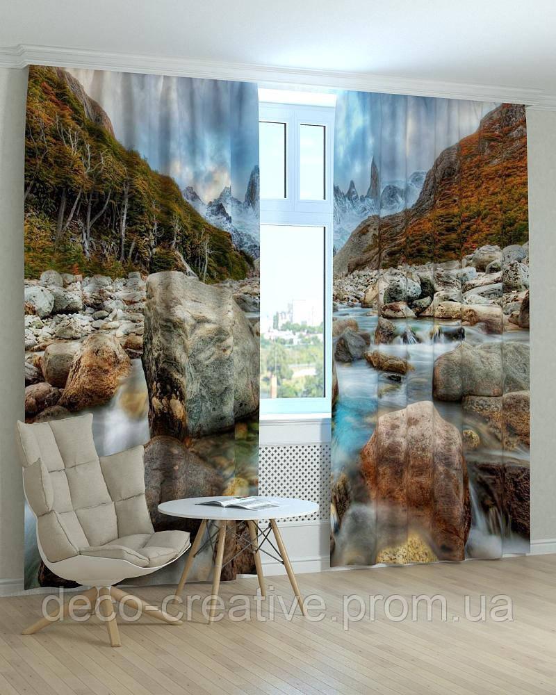 Фотошторы пейзажи горная речка