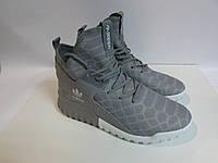 Мужские кроссовки Adidas серые высокие (346) код 955А
