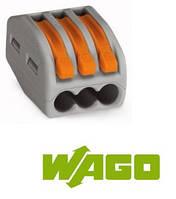 Компактные соединительные клеммы; 3-проводные клеммы WAGO 222-413