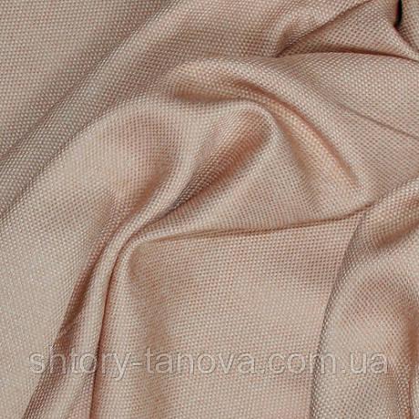 Ткань для портьер из рогожки беж-розовый