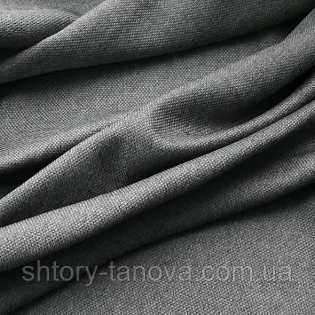 Рогожка для штор и декора легкая т.серый