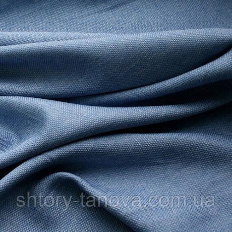 Декор рогожка брук серенево-блакитний