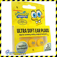 Детские беруши Sponge Bob Ultra Soft (3 пары!).